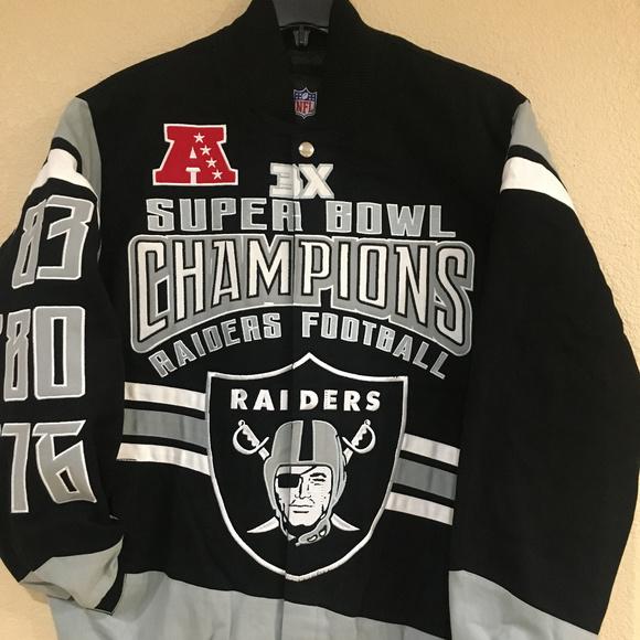 9b697c31a6f Oakland Raiders Men 3X Championship Cotton Jacket